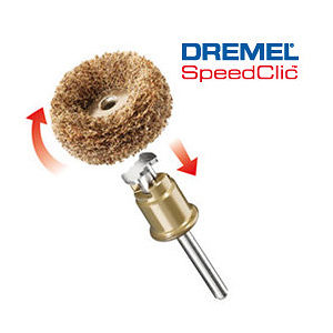 DREMEL EZ SpeedClic™: Finishing Abrasive Buffs grit 180 & 280 (511S)