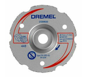 DREMEL DSM20 Multipurpose Carbide Flush Cutting Wheel (DSM600)