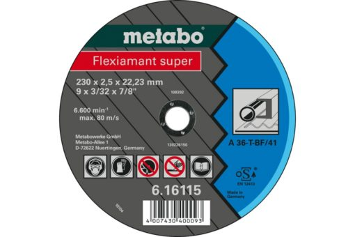 METABO 61611500 CUTTING DISCS STEEL-FLEXIAMANT SUPER 230X2.5X22.23