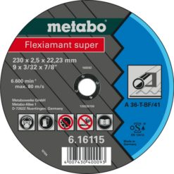 METABO 616737000 CUTTING DISCS STEEL/STAINLESS 115X2.5X22.23 INOX