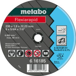 METABO 616187000 CUTTING DISCS STEEL/STAINLESS 125X1.0X22.23