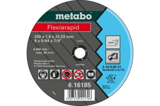 METABO 616185000 CUTTING DISCS/STAINLESS 230X1.9X22.23