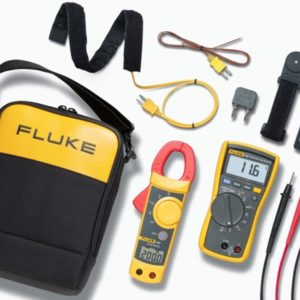 Fluke 116/323 Thermometer , Clamp Meter and Voltage Detector Kit